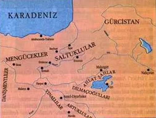Ahlatşahlar Haritası